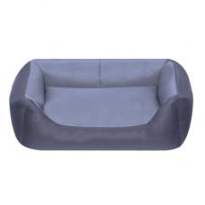 Лежак Yami-Yami с подушкой, прямоугольный, серый, 55x40x18 см