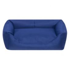 Лежак Yami-Yami с подушкой, прямоугольный, тёмно-синий, 55x40x18 см