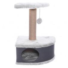 "Домик-когтеточка Yami-Yami ""Конфетти"", угловой, серый, 49х37х70 см"