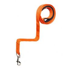 Поводок Yami-Yami Сити №1, с мягкой ручкой, оранжевый, 2 см, 120 см