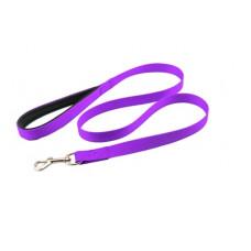Поводок Yami-Yami Сити №1, с мягкой ручкой, фиолетовый, 2 см, 120 см