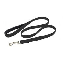 Поводок Yami-Yami Сити №1, с мягкой ручкой, черный, 2 см, 120 см