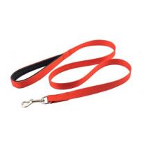 Поводок Yami-Yami Сити №2, с мягкой ручкой, красный, 2.5 см, 120 см