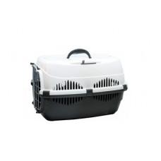 Переноска Yami-Yami Спутник-2 для животных, темно-серый/белый, 33х49х32 см