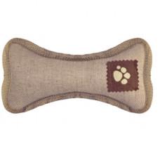 "Игрушка-аппорт Yami-Yami для собак ""Кость"", из брезента (100% хлопок, набивка), 24 см"