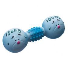 """Игрушки Yami-Yami """"Гантель Спортсмен"""" для собак, голубой, 13 см"""