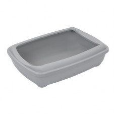 Туалет Yami-Yami для кошек, глубокий, большой, серый, 50×38×13 см