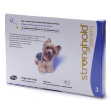 Капли Zoetis Стронгхолд для собак 2.6-5 кг, от блох, ушных и чесоточных клещей, гельминтов, фиолетовые, 3 пипетки