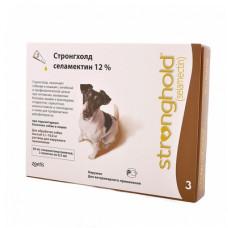 Капли Zoetis Стронгхолд для собак 5-10 кг, от блох, ушных и чесоточных клещей, гельминтов, коричневые, 3 пипетки