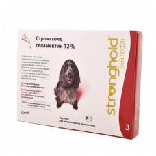 Капли Zoetis Стронгхолд для собак 10-20 кг, от блох, ушных и чесоточных клещей, гельминтов, красный, 3 пипетки