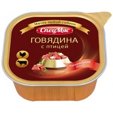 """Зоогурман консервы для собак """"СпецМяс"""" говядина с птицей, 300 гр"""