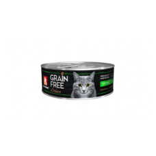 "Корм Зоогурман ""Grain Free"" для кошек, кролик, банка, 100 г"