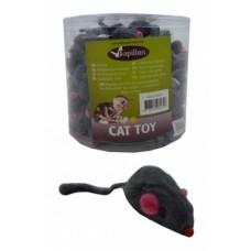 """Игрушка Papillon Furmouse grey with rattle in tube для кошек """"Веселый мышонок"""" с погремушкой, искусственный мех"""