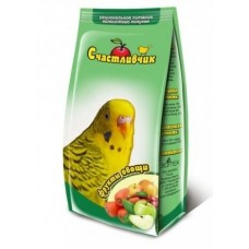 Корм Счастливчик для волнистых попугаев, фрукты/овощи, 350 г