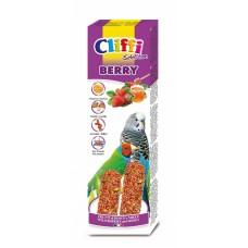 Палочки Cliffi Sticks budgerigars exotics with berries and honey Selection Berry для волнистых попугаев и экзотических птиц, лесные ягоды/медом, 60 г