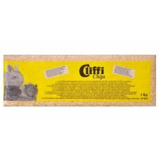 Опилки Cliffi Chips для грызунов, 100% органик, 14 л, 1 кг