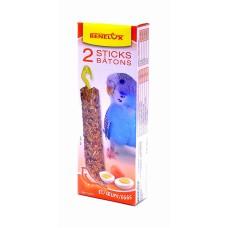 Лакомые палочки Benelux Seedsticks budgies Eggs x 2 pcs для волнистых попугайчиков,  яйцо, 110 г