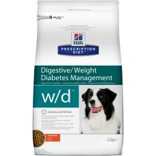 Корм Hills Prescription Diet w/d Digestive/Weight/Diabetes Management для собак при поддержании веса и сахарном диабете, диетический, курица