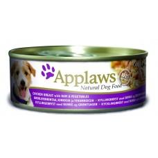 Applaws консервы для собак с курицей, ветчиной и овощами, Dog Chicken, Ham & Veg, 156 гр