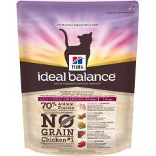 Корм Hills Ideal Balance No Grain для кошек от 1 года до 6 лет, беззерновой, курица