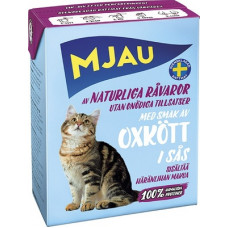 Корм MJAU для кошек, говядина, в соусе, tetra, 380 г