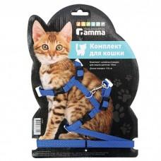 Комплект Цк-02 цветной шлейка+поводок для кошек 10