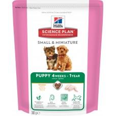 Hills Science Plan Small & Miniature корм для щенков мелких и миниатюрных пород до 12 месяцев, курица/индейка, 300 гр