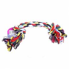 """Игрушка Papillon Flossy toy 2 knots для собак """"Веревка с 2 узлами"""", хлопок, 38 см"""