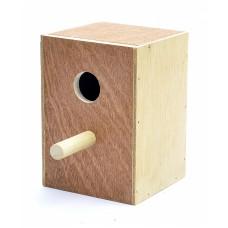 Деревянное гнездо для экзотических птиц, Wooden nest exotic birds, 11x10.5x6 cм