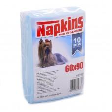 Впитывающие пеленки Napkins для собак, целлюлоза, 60х90 см, 10 шт