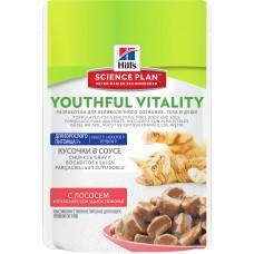 Hill's Science Plan Youthful Vitality аппетитные кусочки в соусе для кошек старше 7 лет, лосось, 85 гр