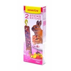 Лакомые палочки Benelux Seedsticks rodents Fruit x 2 pcs, для грызунов, фрукты, 130 г