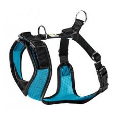Шлейка Hunter Manoa для собак, нейлон/сетчатый текстиль, голубой