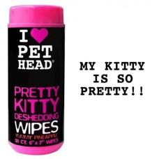 """Салфетки гипоаллергенные Pet Head Pretty Kitty """"Вкусный Ананас"""" от линьки у кошек, без сульфатов и парабенов, 50 шт"""