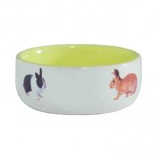 Миска керам для Кролика желтая 300мл*11,5см 801651 IPTS