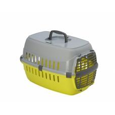 Переноска Roadrunner с пластиковой дверцей, 48,5x32,3x30,1 см, лимонно-желтый, roadrunner I PLASTIC door
