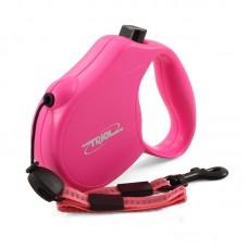 Рулетка FLEXI Clasic Basic-1/S 5м до 12кг розовая