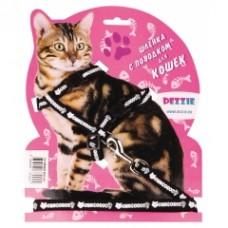 Комплект DEZZIE 5609539 д/кошек шлейка+пов черный