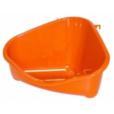 Туалет для грызунов угловой средний, 35х24х18, оранжевый, pet's corner medium