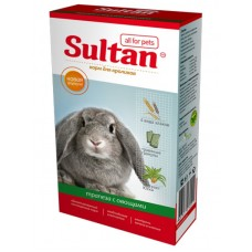 Корм Султан для кроликов, трапеза с овощами, 400 г