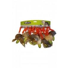 Мышонок Papillon Furmouse мягкая шерстка, натуральный мех кролик, цвет в ассортименте, 9 см