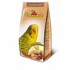 Корм Счастливчик для волнистых попугаев, орехи/кунжут, 350 г