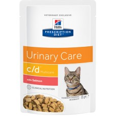 Hill's Prescription Diet Feline c/d Multicare, лосось, 85 гр