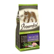 Корм PRIMORDIAL для стерилизованных кошек, беззерновой, индейка/сельдь
