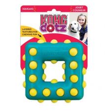 """Игрушка Kong Dotz """"Квадрат"""" для собак, большой, 13 см"""