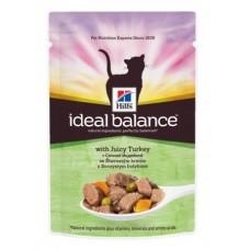Корм Hills Ideal Balance для взрослых кошек, индейка, пауч, 85 г