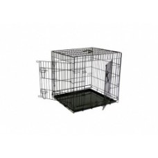 Клетка металлическая с 2 дверками, 61x54x58 см, черная, Wire cage black 2 doors