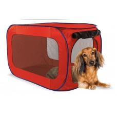 Переносной домик для собак малых пород, 38,1х38,1х66 см, полиэстер, Portable dog kennel small