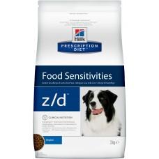 Корм Hills Prescription Diet z/d Food Sensitivities для собак при пищевой аллергии, гипоаллергенный, диетический