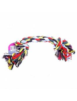 """Игрушка для собак """"Веревка с 2 узлами"""", хлопок, 25 см , Flossy toy 2 knots"""